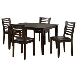 Lavine Transitional 5 Piece Dining Set Winston Porter