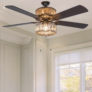 52 Cater Geometric Diamond 5 Blade Ceiling Fan With Remote
