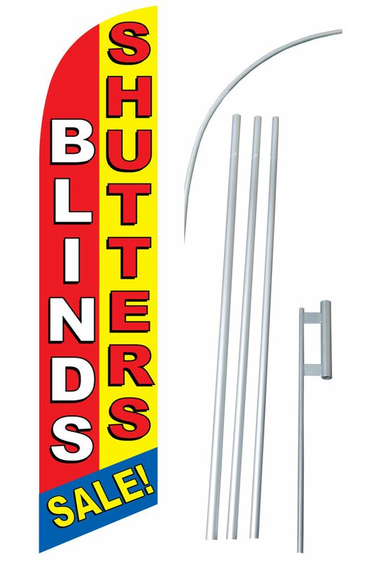 Neoplex Blinds And Shutters Polyester 180 X 30 In Flag Set