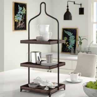 Gracie Oaks Surikova Metal 3 Tiered Standard Shelf