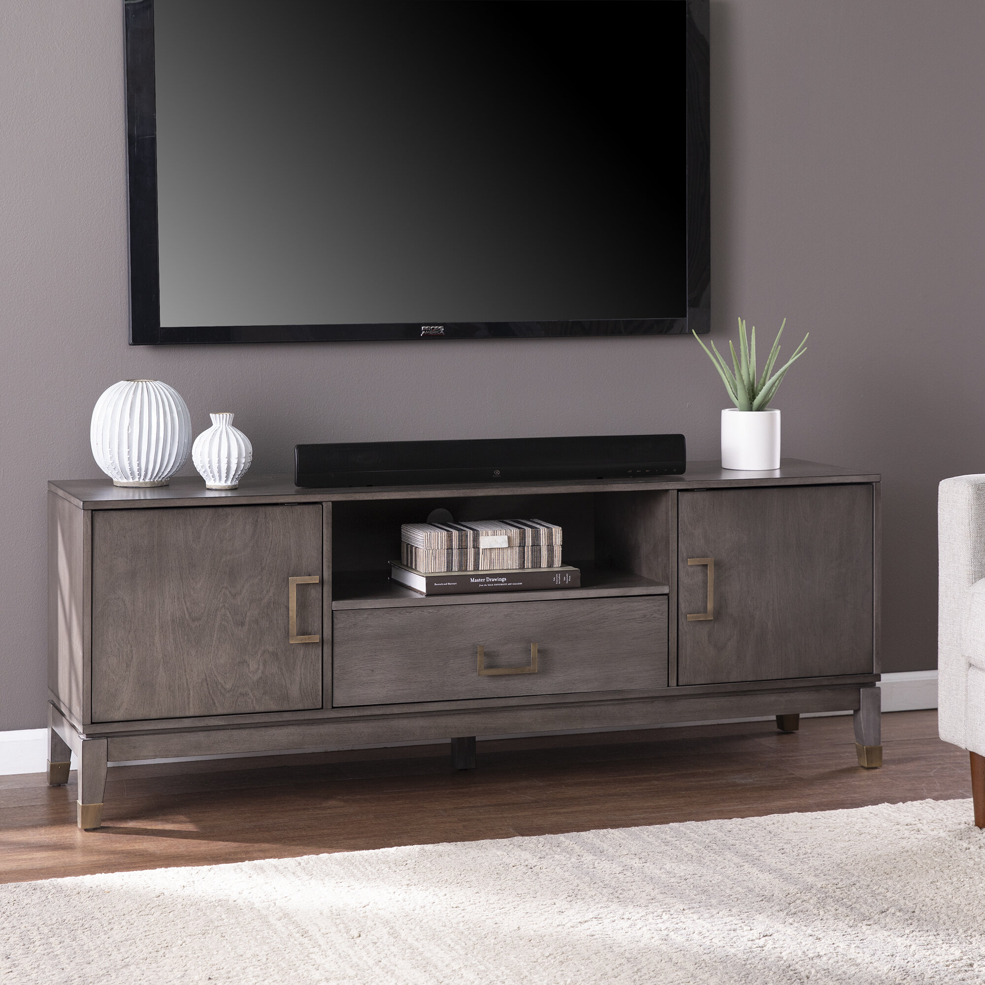 Everly Quinn Brenting Tv Stand For Tvs Up To 70 Reviews Wayfair