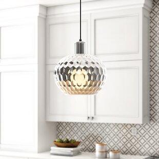 Truman Glass 1-Light Pendant by Mistana