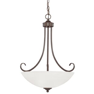 Ora 3-Light Bowl Pendant by Fleur De Lis Living