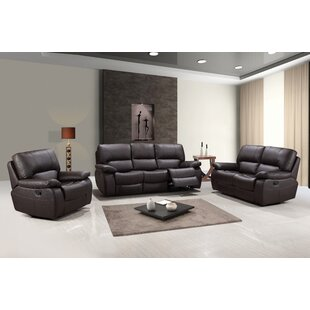 Claverton Reclining 3 Piece Living Room Set (Set of 3) by Red Barrel Studio