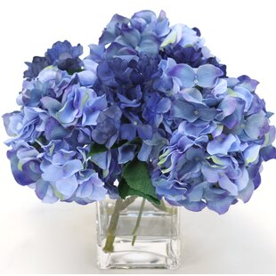 Hydrangeas Floral Arrangement in Decorative Pot