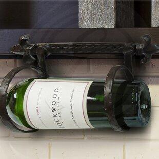 Fleur de Lis 1 Bottle Wall Mounted Wine Rack