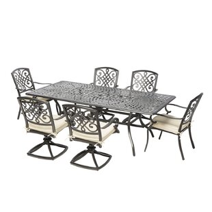 Wrightsville 9 Piece Dining Set with Cushions