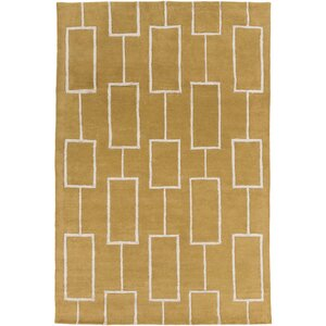 Aldred Hand-Tufted Tan/Khaki Area Rug