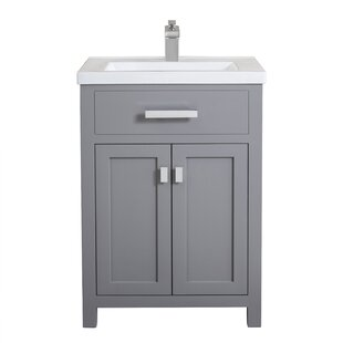 white bathroom vanities with drawers. Save. Knighten 24\ White Bathroom Vanities With Drawers