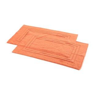 Ring Spun Cotton Line Bath Rug Set (Set of 2) by Homestead Textiles
