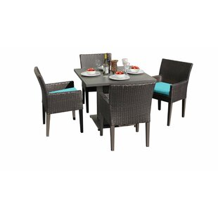 Meier Outdoor 5 Piece Dining Set with Cushions