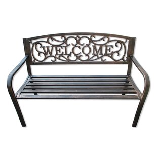 Hartlepool Welcome Metal Garden Bench