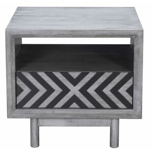 Castle End Table with Storage