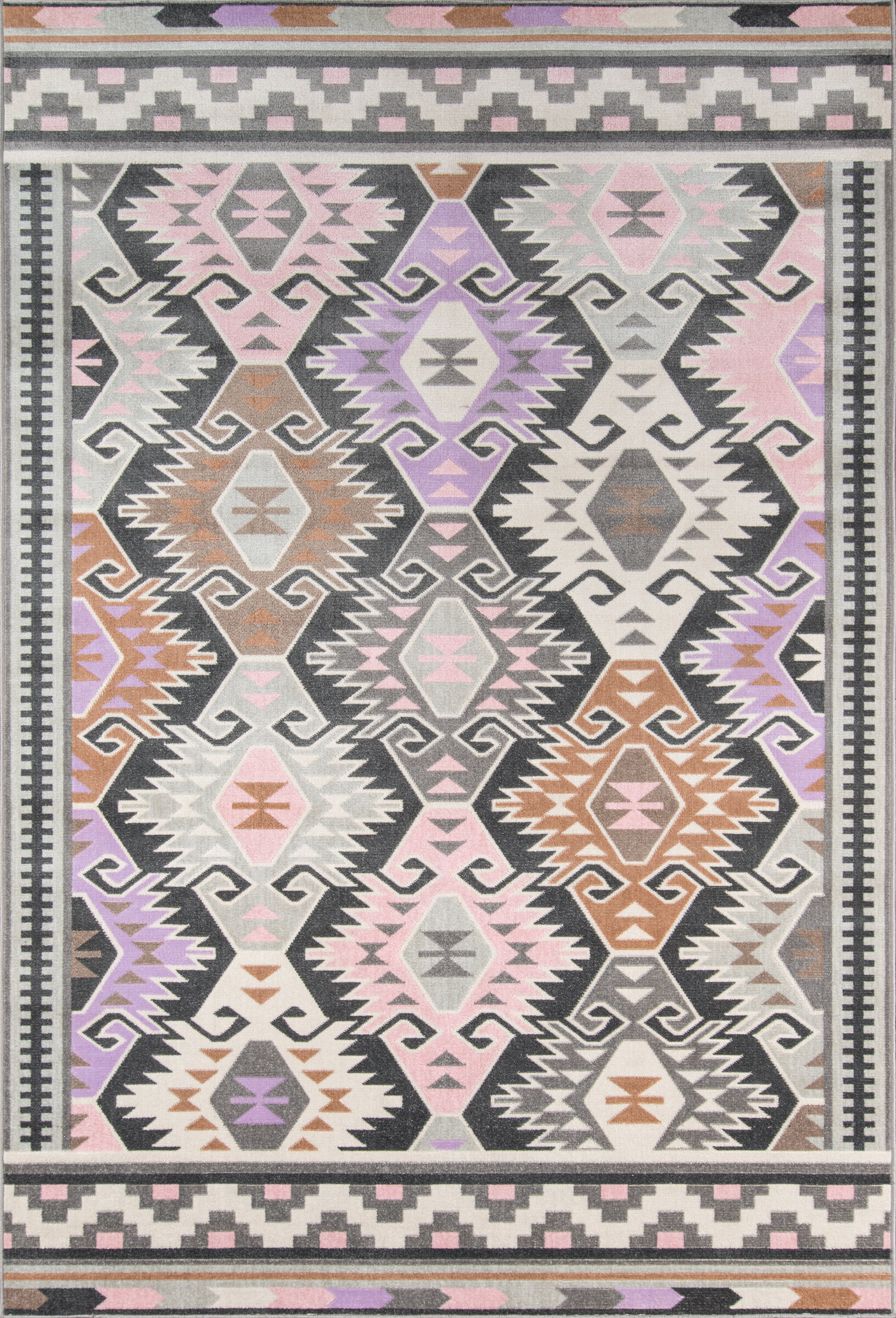 colors rug upcycled bohemian hippie multicolor product ready to foot round bright ship