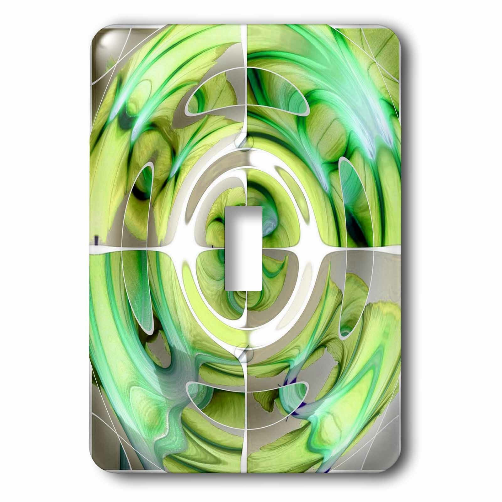 3drose Lime And Abstract 1 Gang Toggle Light Switch Wall Plate Wayfair