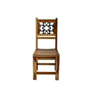 Thurber Solid Wood Dining Chair Millwood Pines