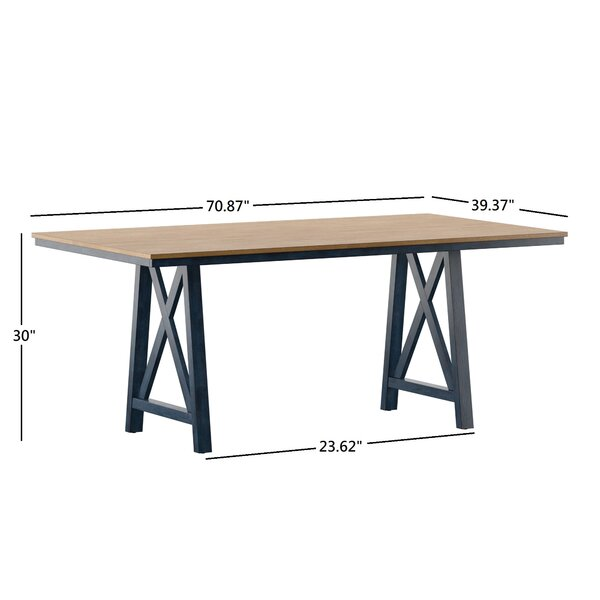 August Grove Ault Two Tone Dining Table Reviews Wayfair