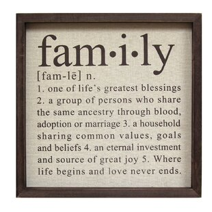 Charming Definition Of Family Wall Décor