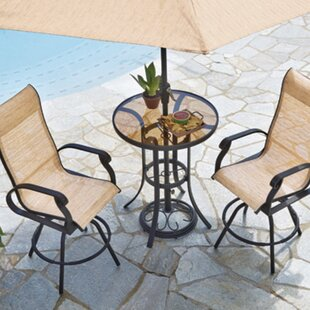 Charlton Home Whipton Balcony 3 Piece Dining Set