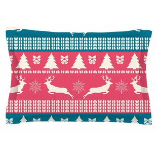 Famenxt 'Christmas Blue Red' Illustration Sham