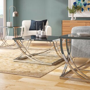 Wade Logan Lucio 3 Piece Coffee Table Set