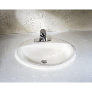 Online Reviews Aqualyn Ceramic Oval Drop-In Bathroom Sink with Overflow ByAmerican Standard