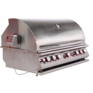 Convection 5-Burner Built-In Propane Gas Grill
