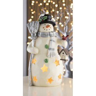 Beige Mr Snowman LED Luminary Light By Aynsley China