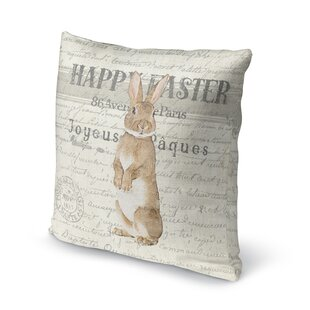 Happy Easter Indoor/Outdoor Throw Pillow