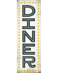 Retro Diner Sign Textual Art On Wrapped Canvas