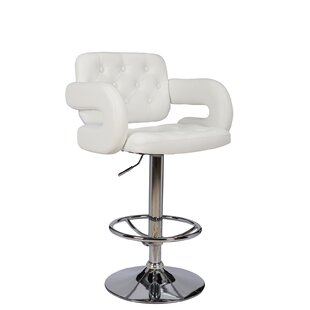 Castlebourne Series Adjustable Height Swivel Bar Stool by Orren Ellis