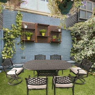 Fleur De Lis Living Greenbank 7 Piece Dining Set with Cushions