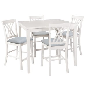 Gisella 5 Piece Breakfast Nook Dining Set Highland Dunes