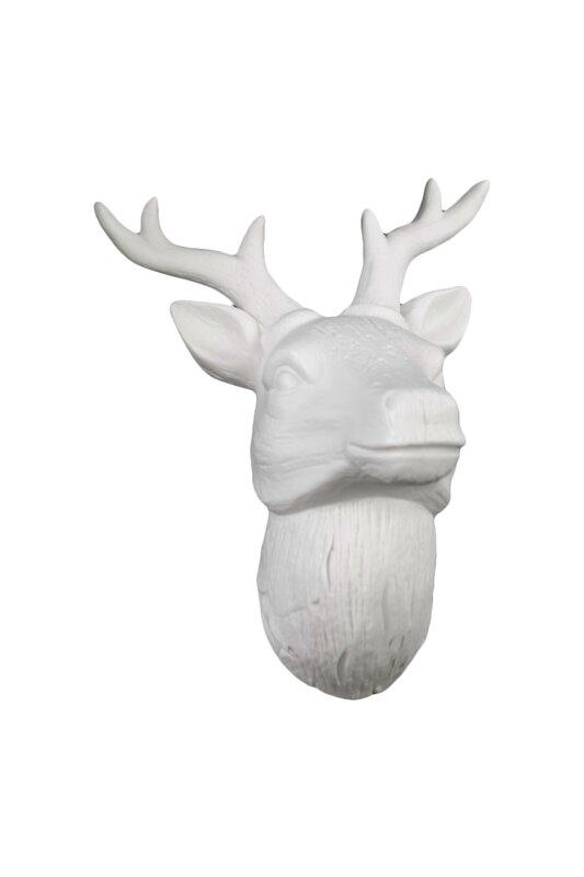 White Deer Head Wall Decor urban trends porcelain deer head wall decor gloss white & reviews