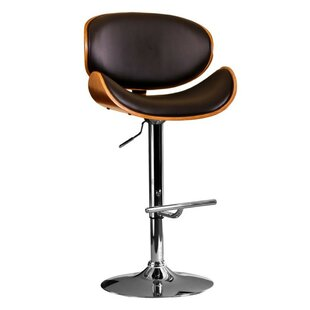 Stall Modern Adjustable Swivel Barstool by Orren Ellis