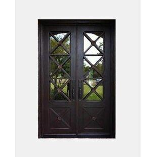 Achilles Premium Flat Top Iron Prehung Front Entry Door