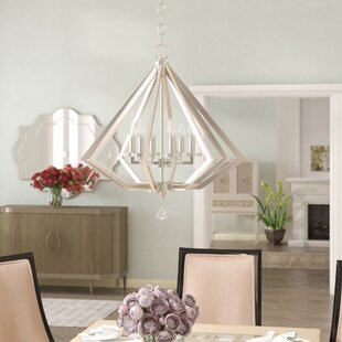 Estee 6-Light Geometric Chandelier by Willa Arlo Interiors