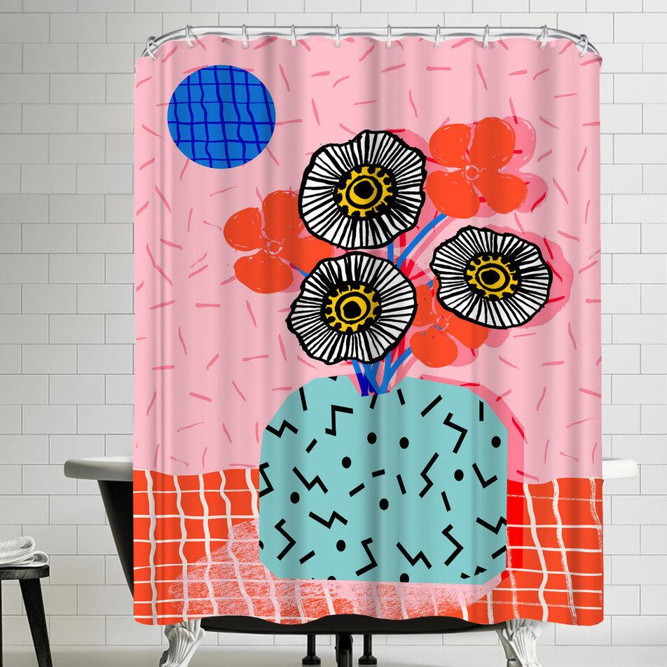 East Urban Home Wacka Designs Far Out Single Shower Curtain Wayfair