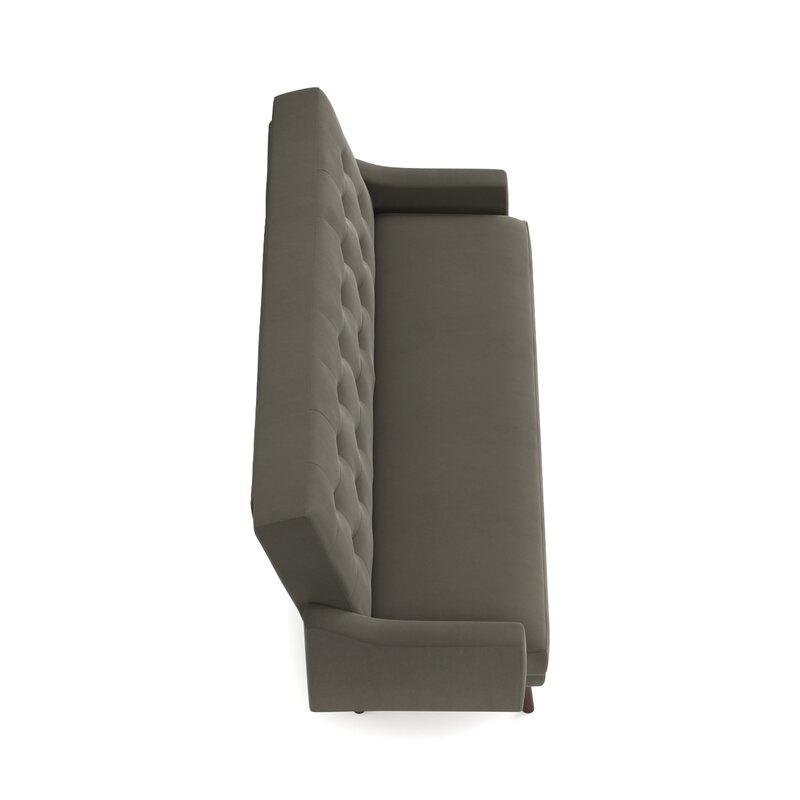oakland click clack futon reclining sofa bed in velvet handy living oakland click clack futon reclining sofa bed in      rh   wayfair