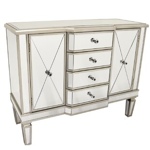 Ceniceros Mirrored 2 Door Accent Cabinet by House of Hampton