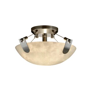 Brayden Studio Petrina Clouds 2 Light Semi Flush Mount