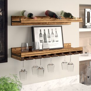 Berlyn 2 Piece 8 Bottle Wall Mounted Wine Rack Set by Trent Austin Design