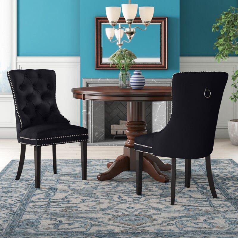 Darby Home Co Stonefort Tufted Velvet Upholstered Dining Chair (Set of 2)