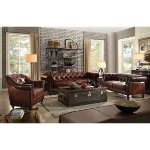 Best Reviews Drage 3 Piece Leather Living Room Set by Canora Grey Reviews (2019) & Buyer's Guide