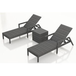 Hobbs Reclining Chaise Lounge and Table