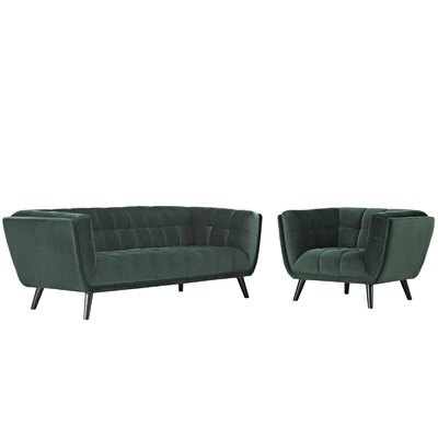Brayden Studio Seneca 2 Piece Living Room Set Color: Green