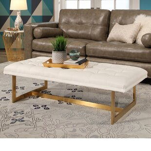 Southgate Tufted Faux Leather Bench by Mercer41