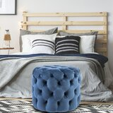 Burkeville 19.7 Velvet Tufted Round Cocktail Ottoman by House of Hampton®