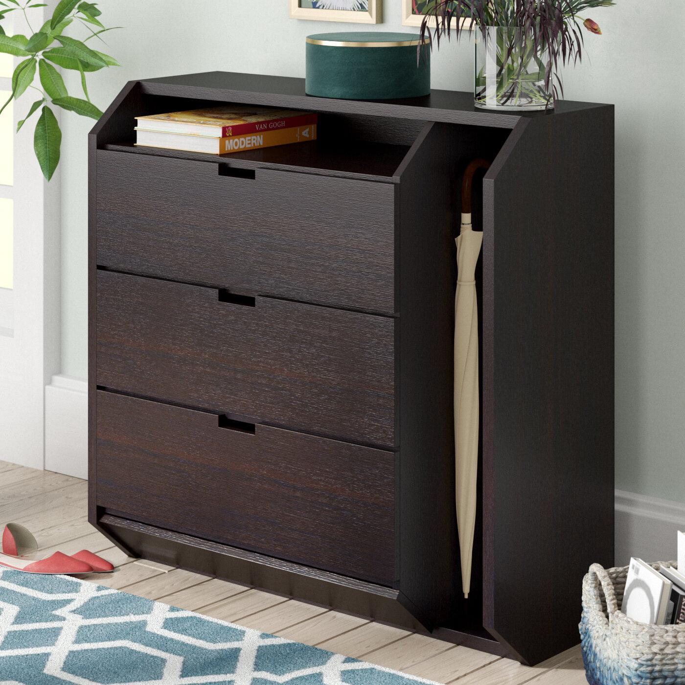 Laude Run Contemporary 9 Pair Shoe Storage Cabinet Reviews Wayfair
