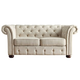 Maia Button Tufted Chesterfield Loveseat